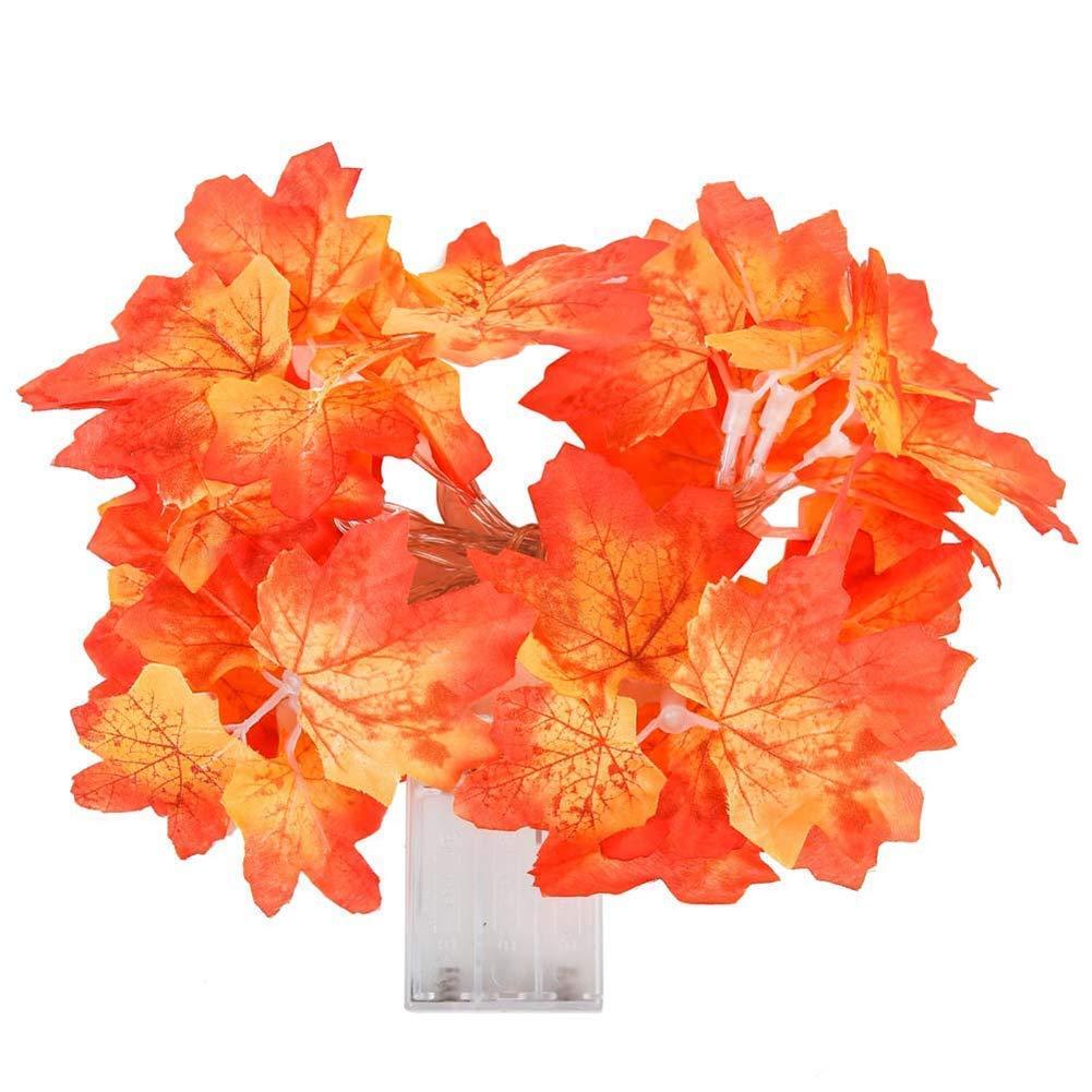 Delleu Ghirlanda artificiale del giardino delle foglie della ghirlanda delle foglie di acero del LED per la decorazione domestica della festa nuziale di Halloween