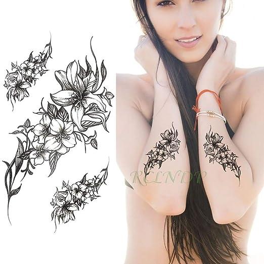 tzxdbh 3 Unids-Pegatinas de Tatuaje a Prueba de Agua Rosa Sirena ...