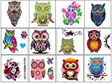 Owl Collection (Colourful Owl Temporary Tattoos …)