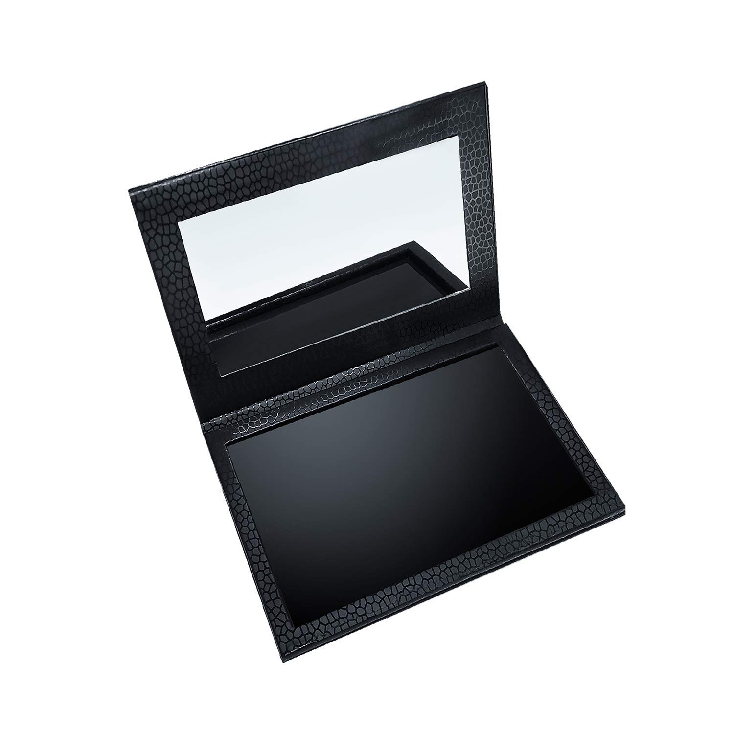 Allwon Magnetic Palette Empty Makeup Palette with Mirror for Eyeshadow Lipstick Blush Powder (Black)
