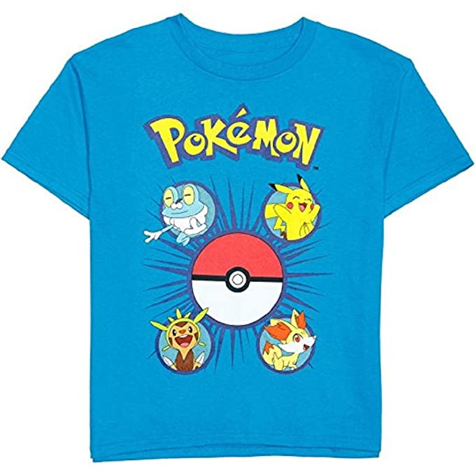 3c8282c9 Amazon.com: Pokemon Little Boys' Pikachu Pokeball Party Tee M(5/6 ...