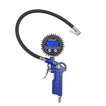 Baorio Reifendruckmessger/ät digitaler Luftdruckpr/üfer mit LCD-Display Tragbare Pr/äzision Reifendruck Messger/ät f/ür Autos LKW Motorr/äder Gel/ändewagen Fahrr/äder