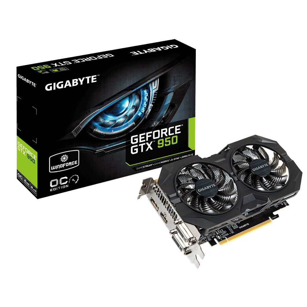 Gigabyte GeForce GTX Graphics Cards GV-N950WF2OC-2GD