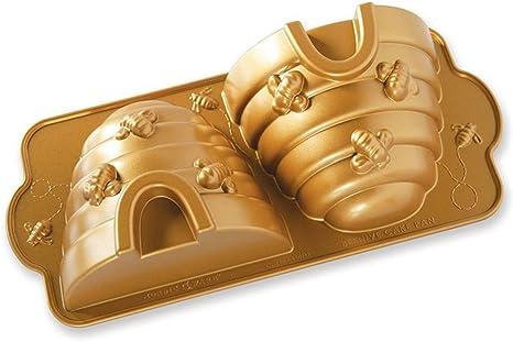 color dorado Molde de aluminio Nordic Ware 85677