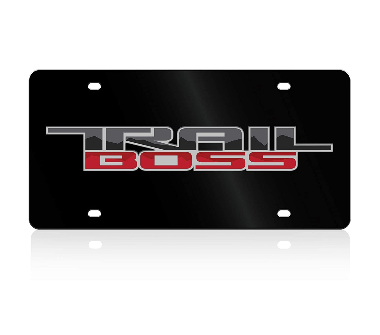 Eurosport Daytona Acrylic License Plate Compatible with Chevrolet Trail Boss Lazer-Tag