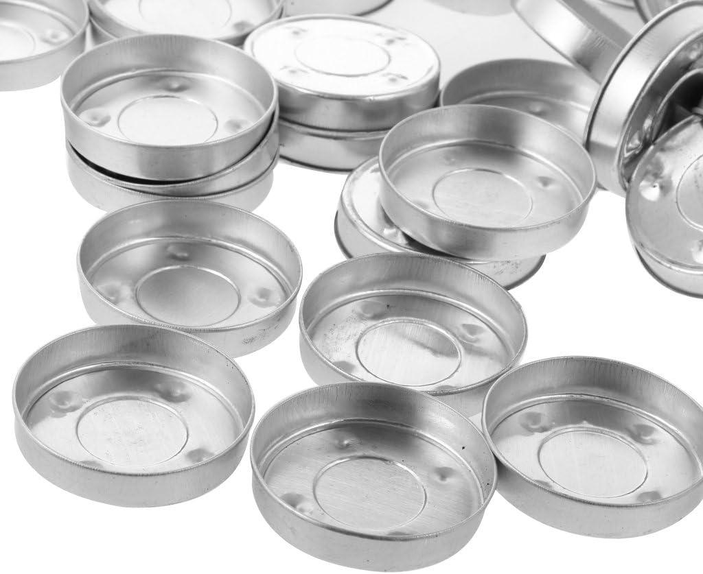 100pcs Aluminum Empty Tealight Cups Case Candle Aluminium Ware for Craft 4#
