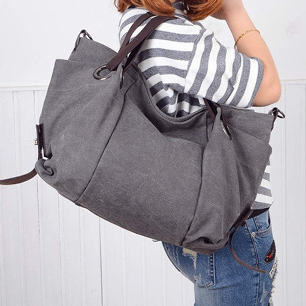 Handbag - signore, elegante, semplice, d'epoca, grande, resistente all'usura, Single-spalla Zaino forGrey/blu, 42x18x35cm borsa a tracolla (Color : Gray) Gray
