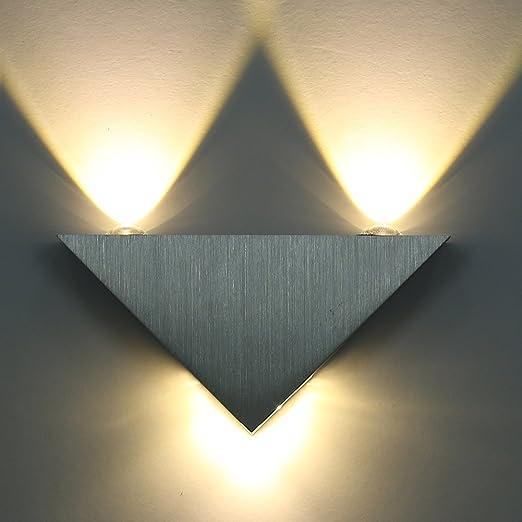 SISVIV Apliques de Pared 3W Lámpara Pasillo, Escalera, Potente Luz ...
