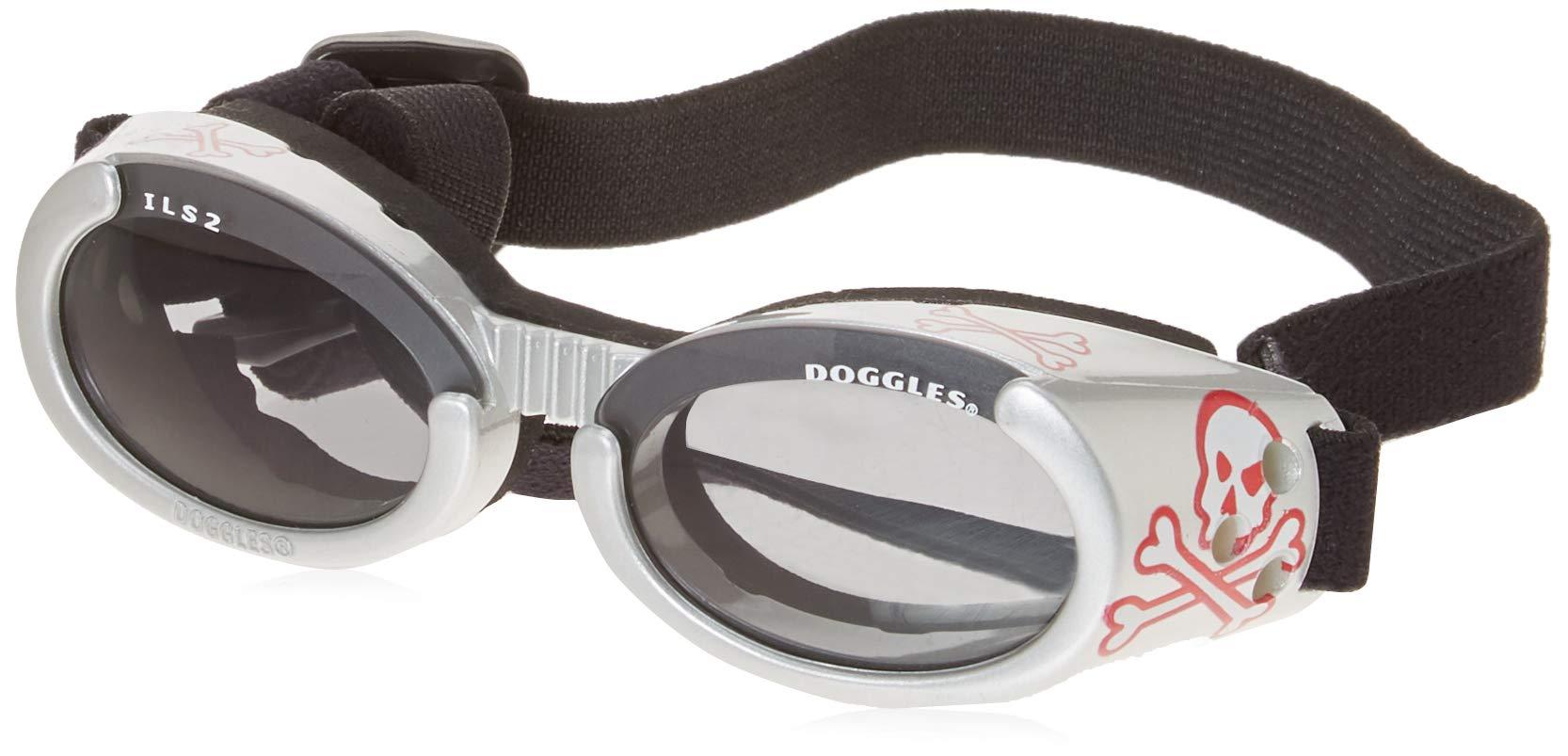 Doggles - ILS Small Silver Skull Frame / Smoke Lens (DODGILSM-14) -