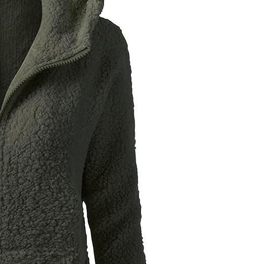 Qingfan Super Warm Long Coat Fur Collar Hooded Sweater Zipper Jacket