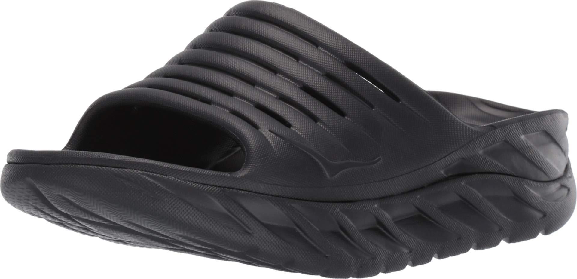 HOKA ONE ONE Womens ORA Recovery Slide 2 Black/Black Sandal - 8 by HOKA ONE ONE