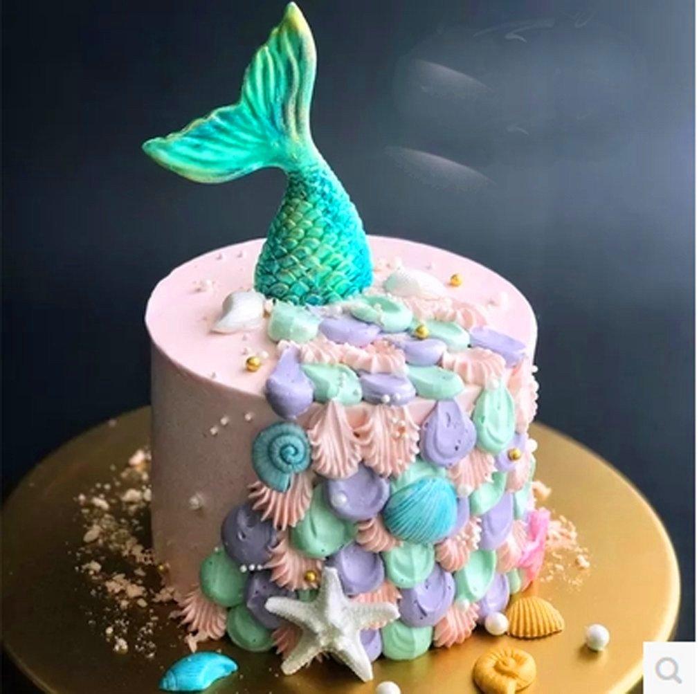 Amazon Com Mermaid Tail Cookie Cutters Plastic Mermaid Cake Fondant