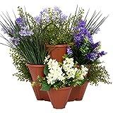 Pure Garden Stackable Planter (Set of 3)