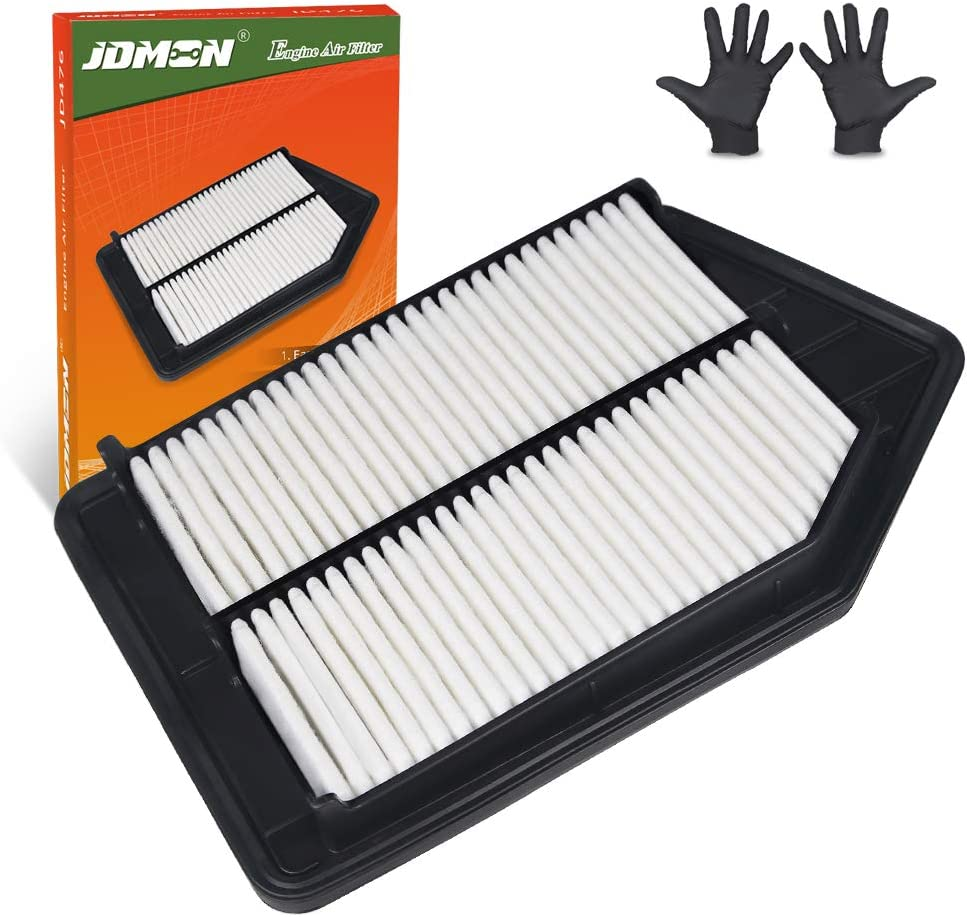 with A Pair of Gloves 2013-2017 CA11476 JDMON Engine Panel Air Filter Replacement for Honda Accord Acura TLX Not for Hybrid Engine and 3.5 Liter 2015-2017 JD476