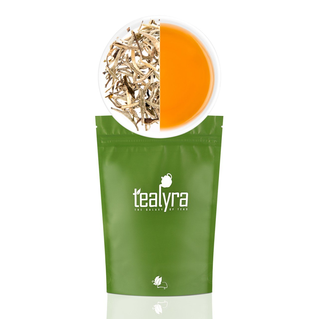 Tealyra - Luxury Jasmine Silver Needle White Losse Tea - Organically Grown in Fujian China - Loose Leaf Tea - Caffeine Level Low - 110g (4-ounce) by Tealyra (Image #1)