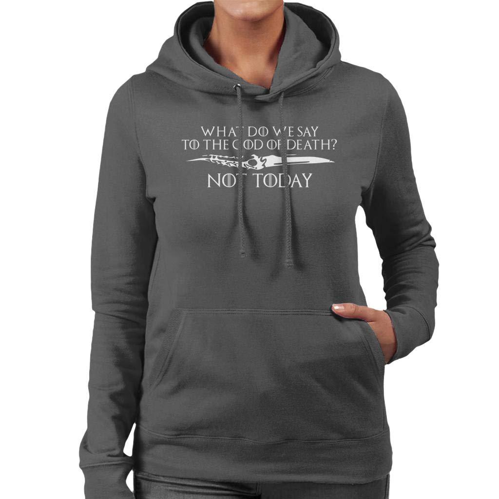 Game of Thrones Arya Not Today Dagger Womens Hooded Sweatshirt