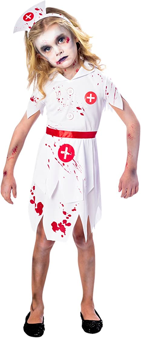 amscan Disfraz de Enfermera de Zombie de Halloween para niños ...