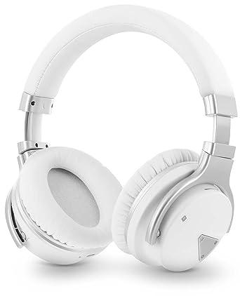 Okra ritmo jb500 – Auriculares estéreo de micrófono inalámbrico de auriculares con cancelación de ruido,