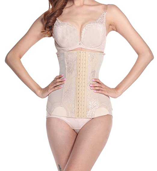 839e60ee6c9 Waist Trainer Corset for Weight Loss Sport Fat Burner Body Shaper Long Torso  at Amazon Women s Clothing store