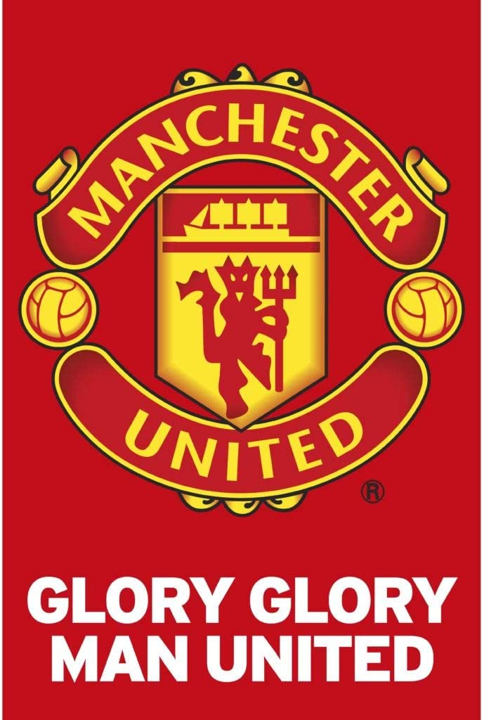 Manchester United 24 x 36 inches Glory Glory Team Crest Poster