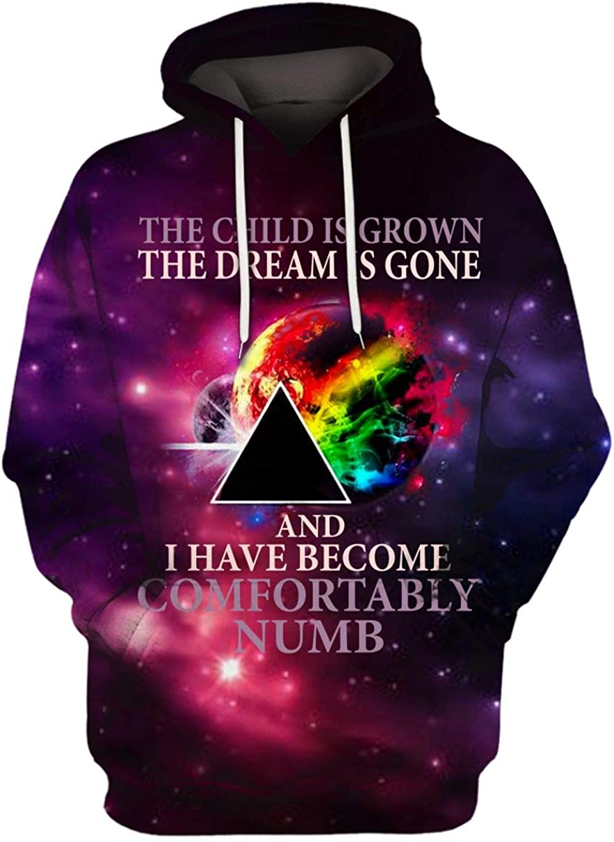 USA Tshirt The Child is Grown The Dream is Gone and I Have Become Comfortably Numb Pink-Floyd Hoodie