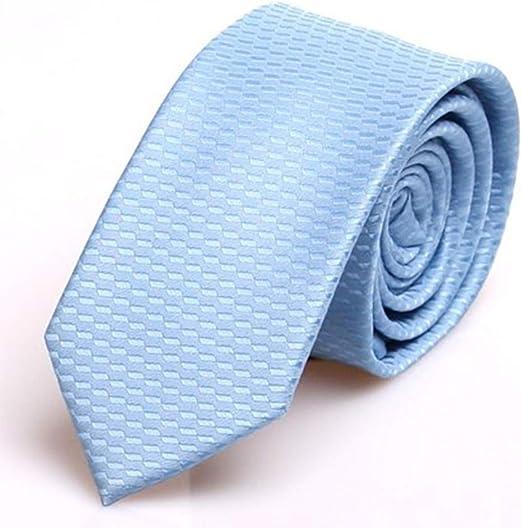 GuanBen Corbata de Hombre, 6 CM, poliéster, Azul Cielo, Caballero ...