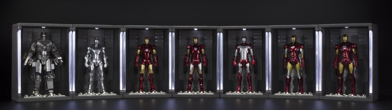 Bandai Tamashii Nations ''Iron Man 2'' S.H. Figuarts MK. VI & Hall of Armor Set by Tamashii Nations (Image #5)