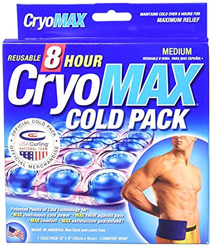 Amazon.com: CryoMAX Cold Pack, Reusable, Latex Free, 8 Hour Cold Therapy , Medium, 12