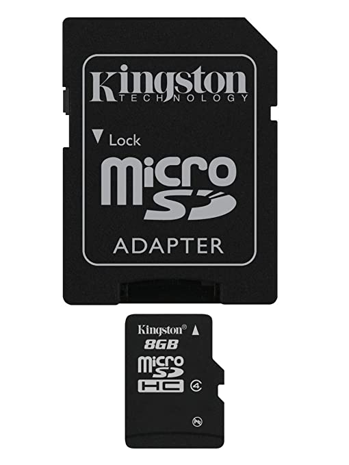 2162 opinioni per Kingston SDC4/8GB Memoria MicroSDHC con Adattatore SD, 8 GB, Class 4