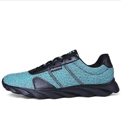 Chaussures de sport décontractées en mousseline à manches courtes pour hommes chaussures de sport antidérapantes légères d'automne mode simple et confortable à porter , Blue ,