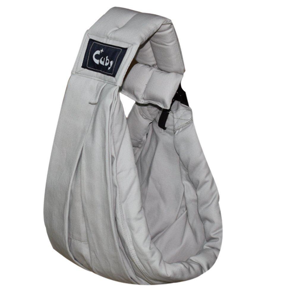 Cuby Fulares de portabebés para los bebé o niños entre 0-3 años para mantenerle más tranquila y cómodo, adjustable, baby sling de algodón y tela CBUK0100ZP