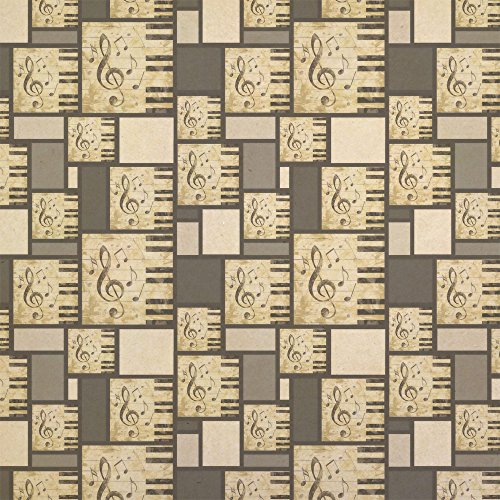 (Vintage Piano with Treble Clef and Music Notes Kraft Present Gift Wrap Wrapping Paper)