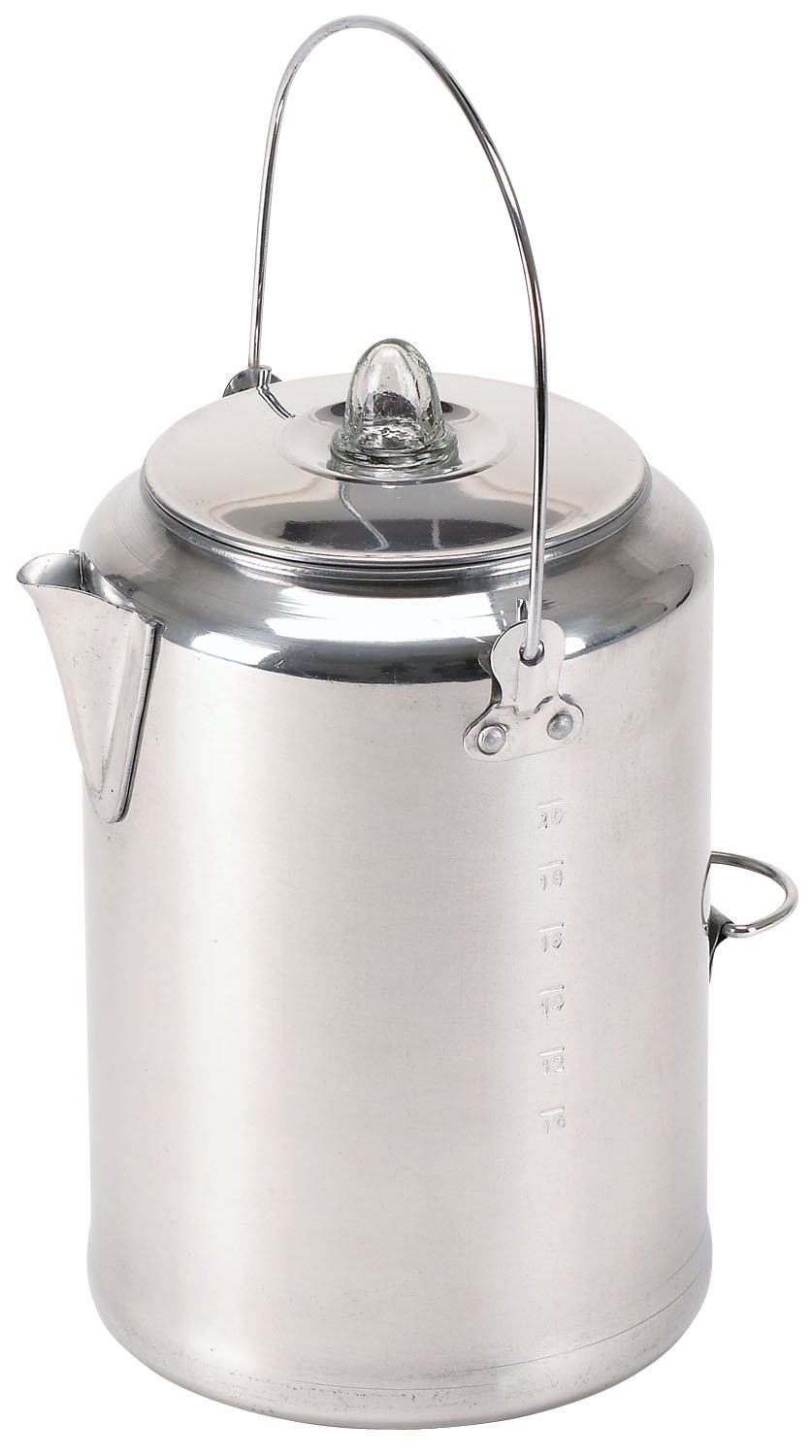 Stansport Aluminum Percolator Coffee Pot, 9 Cups 277