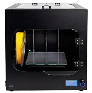 Monoprice Maker Ultimate 2 3D Printer - with (200 x 150 x 150 mm) Heated and Removable Glass Built Plate, Auto Bed Leveling, Internal Lighting & Built-in Filament Detector