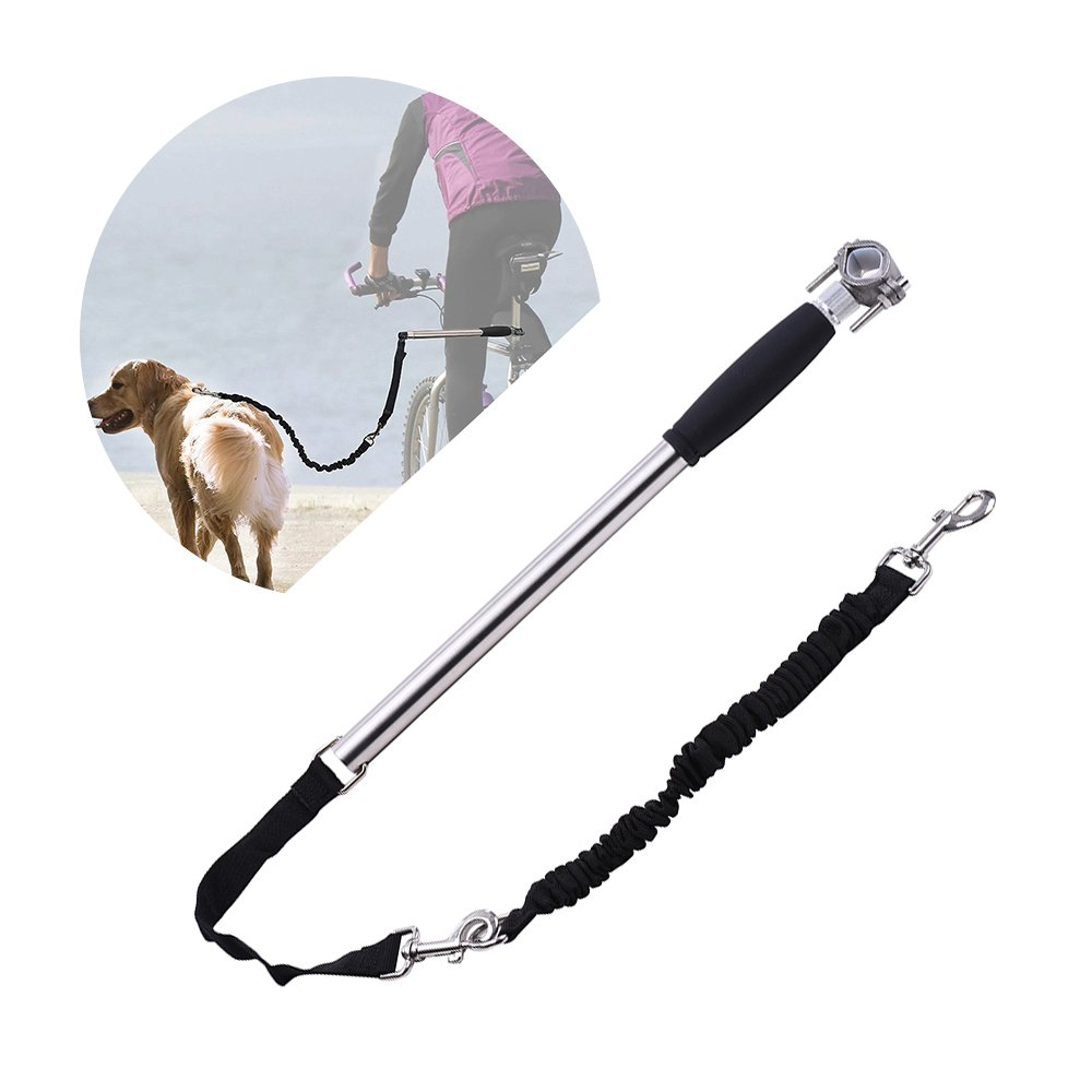Type 1 Hands Free Dog Leashes, Decdeal Dog Bicycle Bike Training Leash Exerciser Walker Stainless Steel Dog Supplies for Outdoors