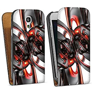 Diseño para Samsung Galaxy S4 Mini I9195 DesignTasche Downflip black - Pipes