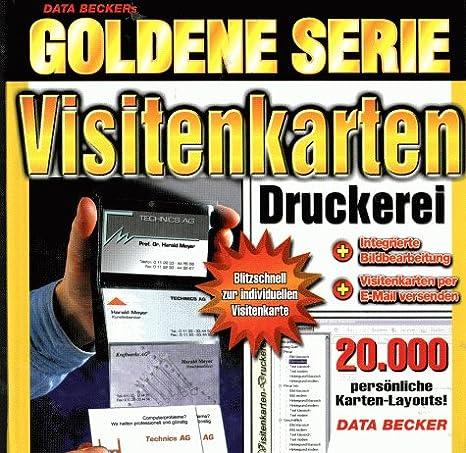 Goldene Serie Visitenkarten Druckerei Cd Rom Für Windows 95 98 2000