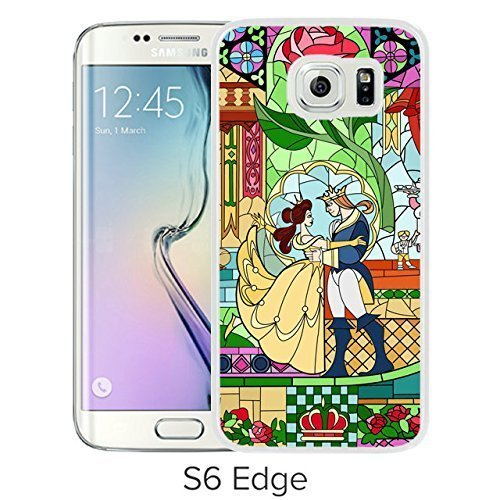 new product de94e 289fd Durable and Fashionable Case Design with Beauty And The Beast Samsung  Galaxy S6 Edge White Phone Case