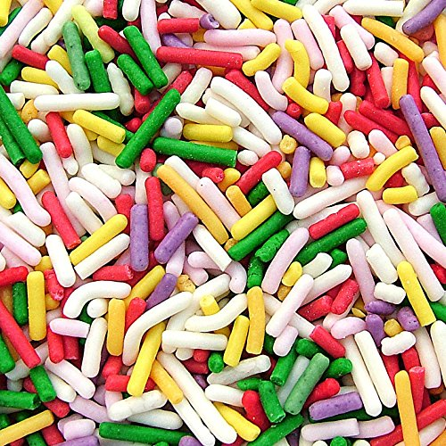 Natural Color Rainbow Sprinkles / Sugar Strands / Jimmies/ Vermicelli cake cupcake decorations