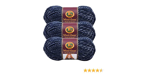 Lion Brand 640-535 Wool-Ease Thick /& Quick Yarn-River Run 3Pk