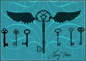 "Ata-Boy Harry Potter Keys 2.5"" x 3.5"" Magnet for Refrigerators and Lockers"