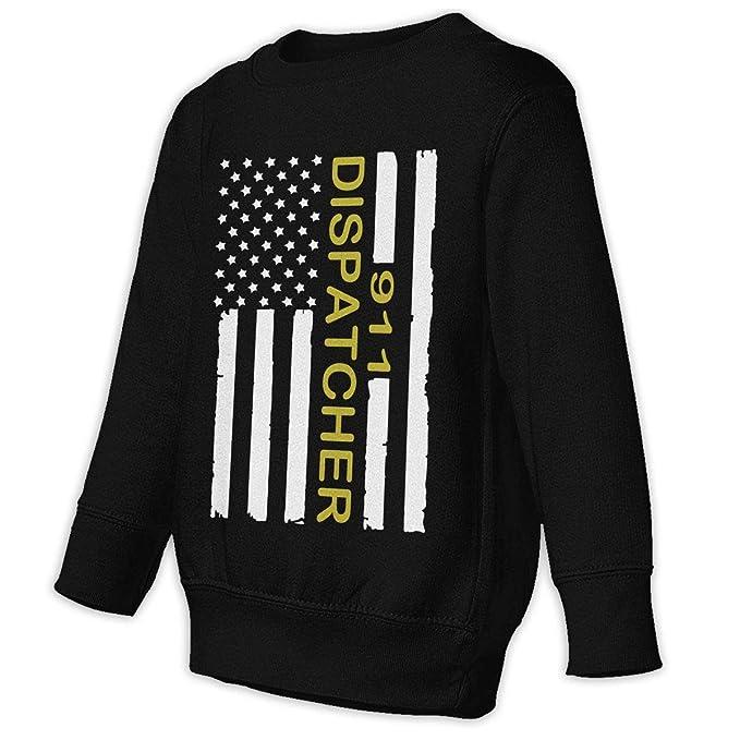 9568d594de Amazon.com: Toddler Girl 911 Dispatcher Thin Gold Line Flag Winter Tops  Outwear Pullover Sweatshirt: Clothing