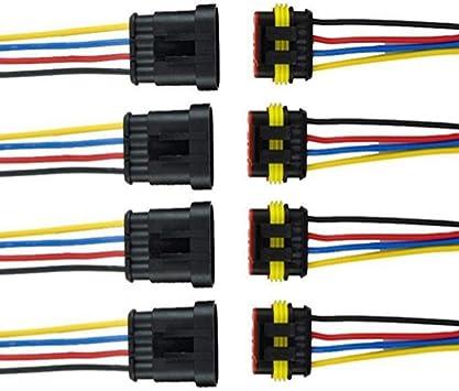 Qiorange 4 Tlg 4 Poliger Kabel Steckverbinder Elektronik