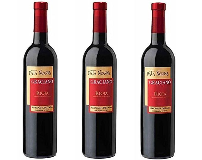 Pata Negra Graciano DO Rioja . Vino Tinto. 3 Botellas x 750 ml - Total 2250 ml