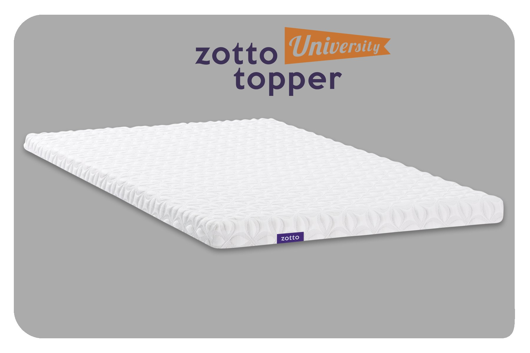 Zotto Premium 3'' Mattress Topper (Full)