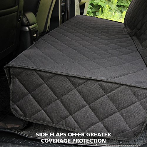 HONEST OUTFITTERS Honest Luxury Quilted Dog Car Seat Cover With Side Flap Pet Backseat cover for Cars, Trucks, and Suv's - WaterProof & NonSlip Diamond Pattern Dog Seat Cover by HONEST OUTFITTERS (Image #3)