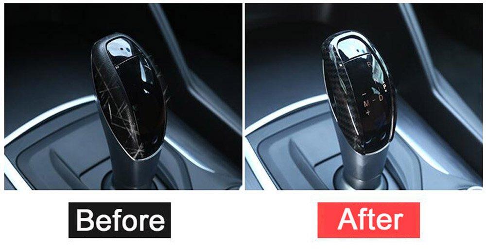 New Carbon Faser Stil ABS Kunststoff Gear Shift Head Verkleidung