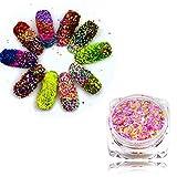 3g jar 48pcs/set Nail Art Glitter Charming Dazzling Powder Dust Women Beauty Nails Beauty Care Decorations SN01-48