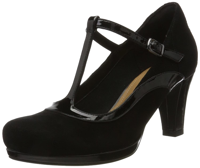 Clarks Chorus Pitch, Zapatos de Tacón para Mujer 38 EU|Negro (Black Combi)