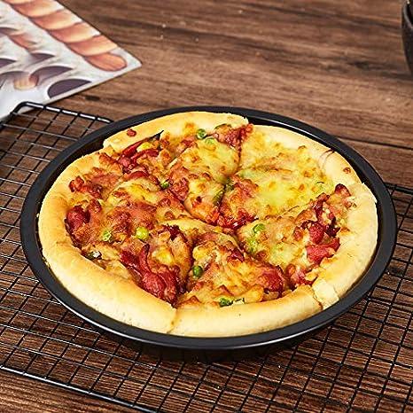 2 PCS Antiadherente Pizza Pan Horno Bandejas para Hornear Molde ...